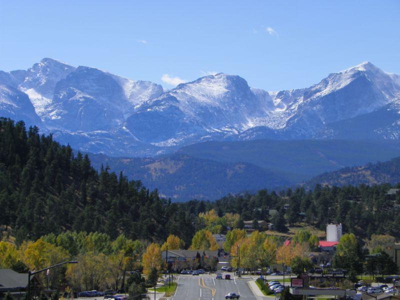 Estes Park Colorado Fall Entrance