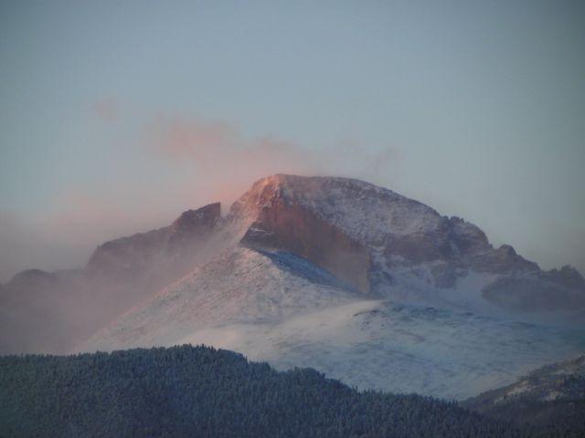 Long's Peak at Sunrise in Estes Park, Colorado 80517