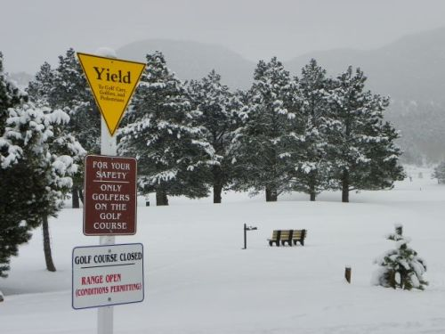 Warning Signs at the Golf Course