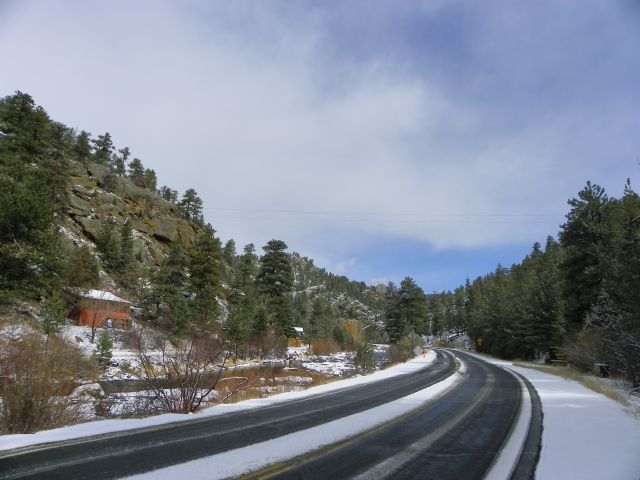 """Big Thompson Canyon after the """"Flash Blizzard"""""""