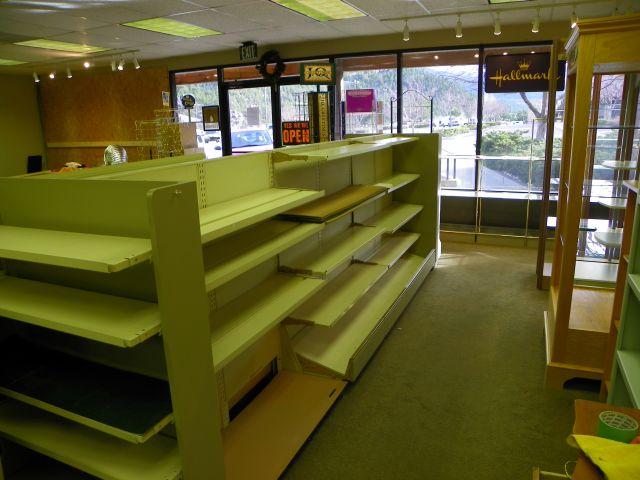 Nothing but bare shelves in Estes Park Peaks Hallmark
