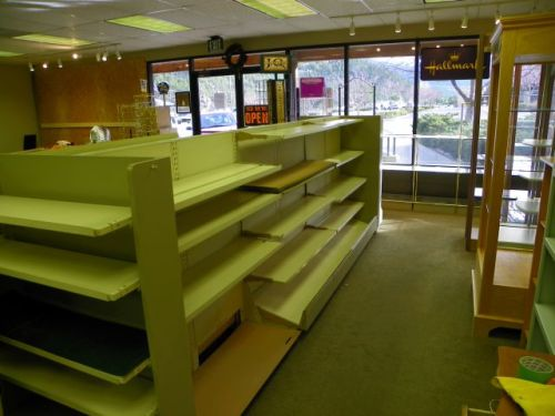 Nothing but bare shelves in Estes Park Peaks Hallmark