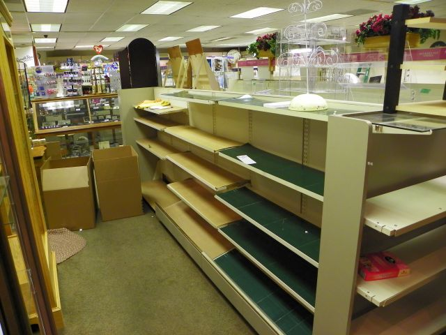 Peaks Hallmark, Estes Park, Bare Shelves