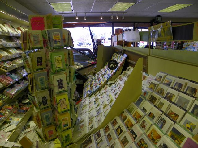 Car crashes into the Peaks Hallmark store in Estes Park, Coloraod