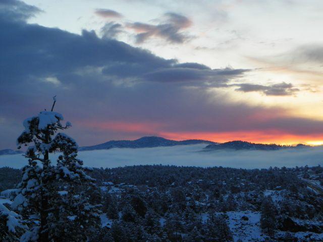 Sunrise in Estes Park Colorado May