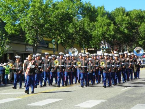 UNITED STATES MARINE CORPS BAND AT THE SCOTTISH IRISH FESTIVAL ESTES PARK COLORADO