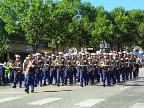 UNITED STATES MARINE CORPS BAND AT THE SCOTTISH IRISH FESTIVAL ESTES PARK COLORADO